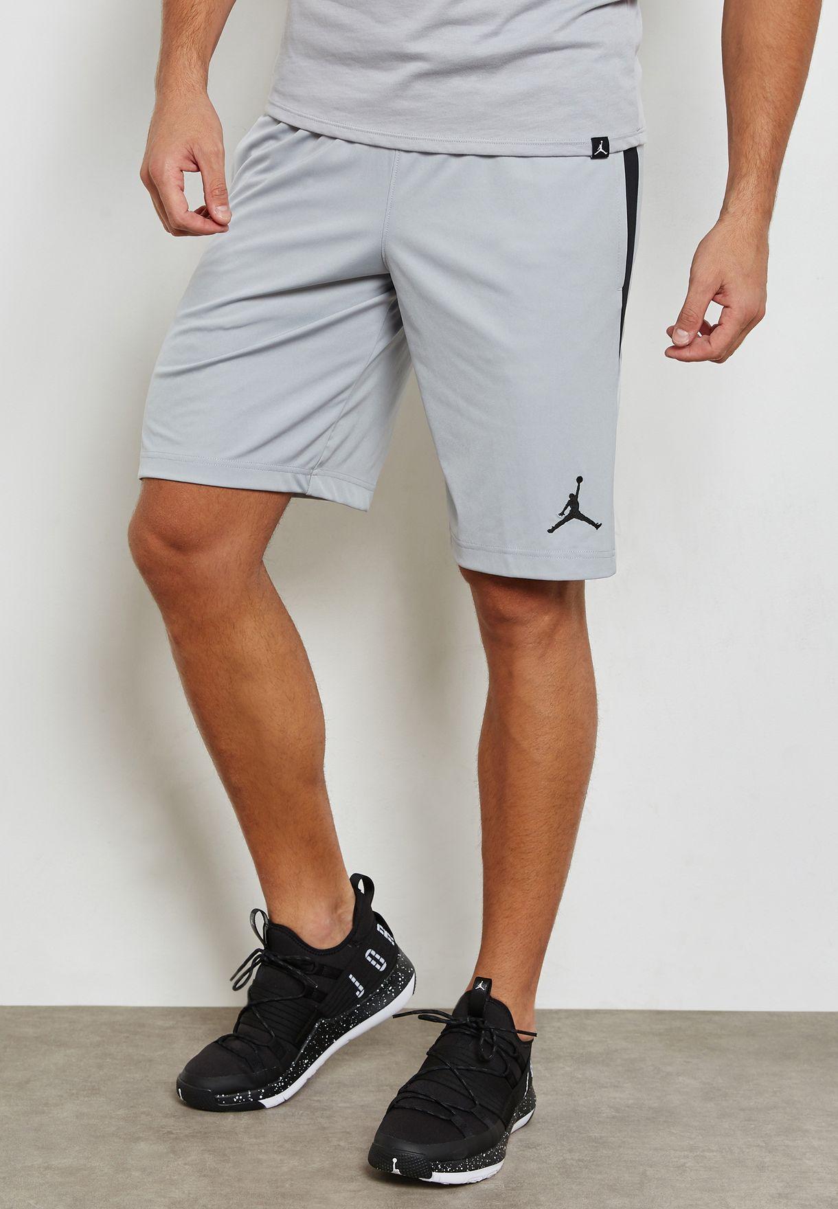 3f3cf0d26eaf5 Shop Nike grey Jordan Dri-FIT 23 Alpha Knit Shorts 905782-012 for ...