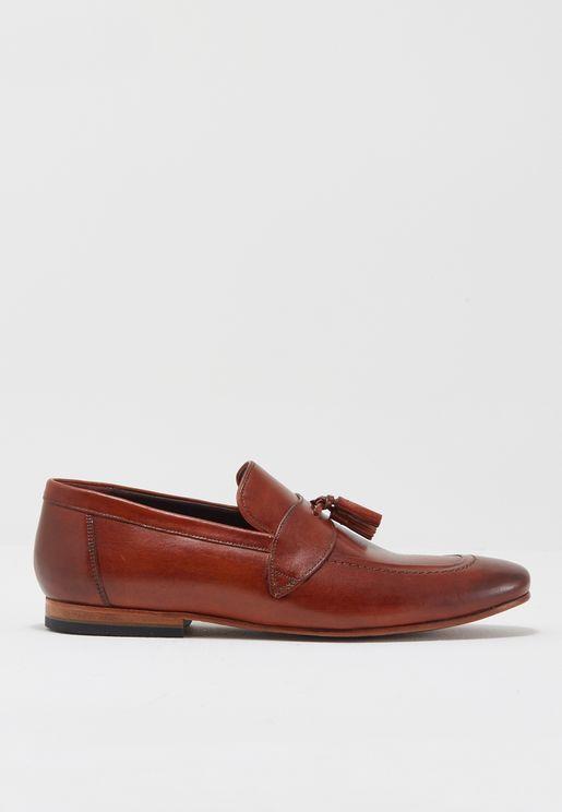 حذاء لوفر جلد