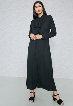 فستان ماكسي بكشكش