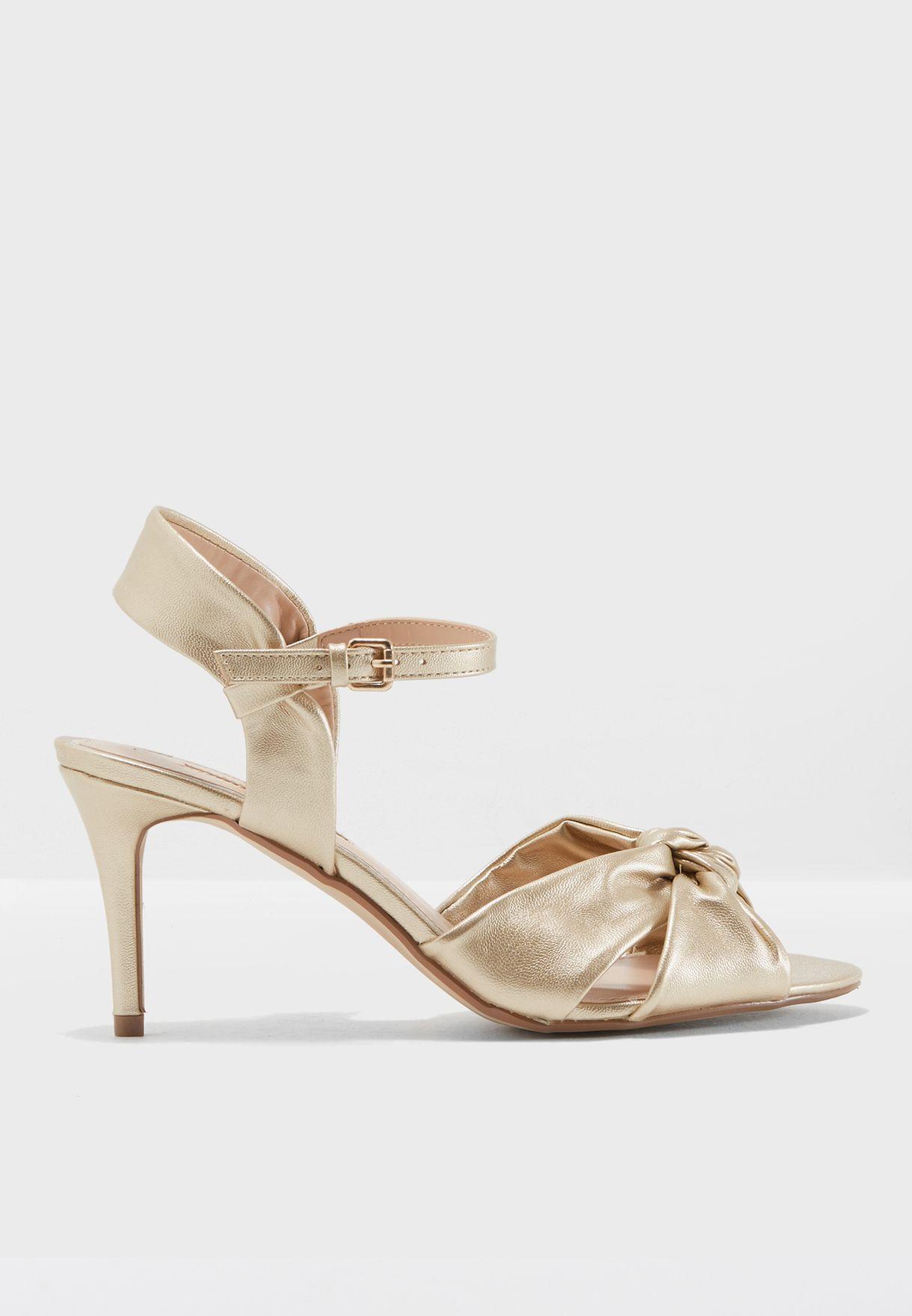 bcf0a7f3705a1 Shop Dorothy Perkins gold Breeze Sandal 19129242 for Women in Qatar ...