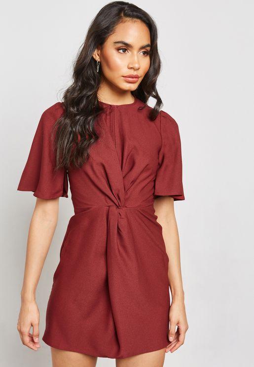 فستان ميني بطبعات ليوبارد