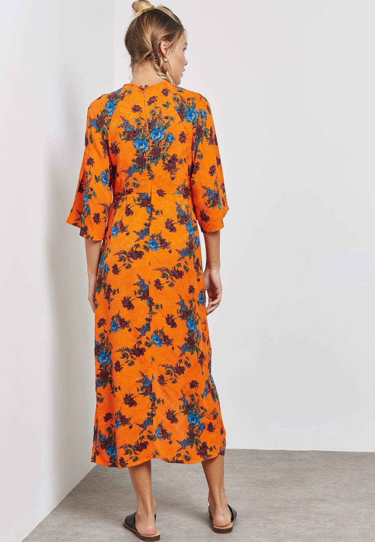 Floral Print Knotted Dress