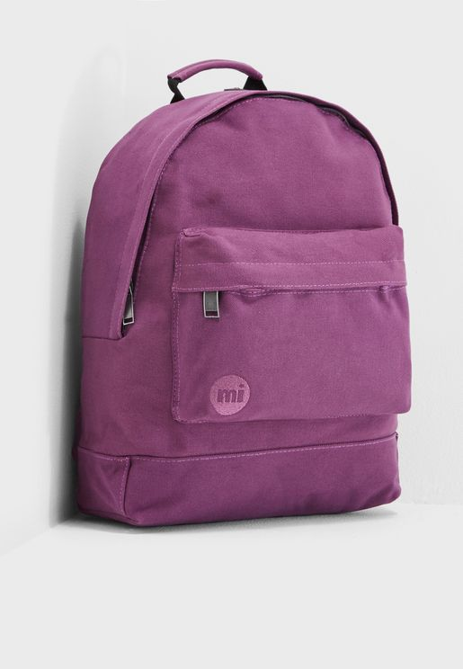 Canvas  Zipper Front Backpack