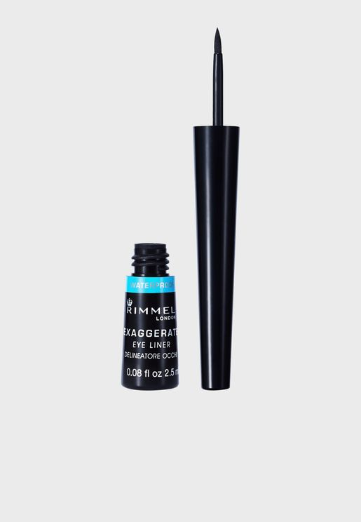 Exaggerate Waterproof Liquid Eyeliner- 003 Black
