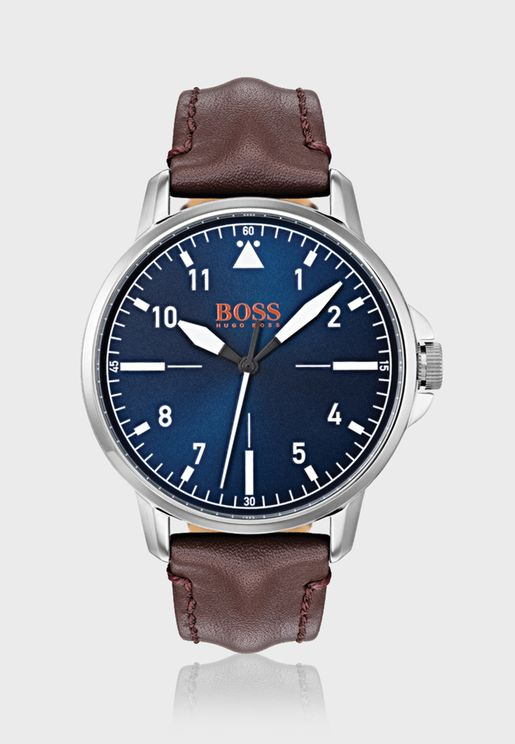 1550060 Chicago Leather Strap Watch