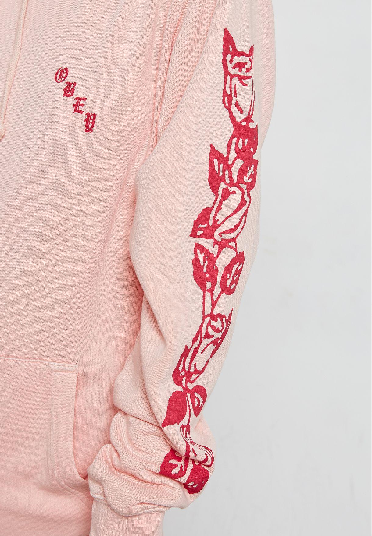 Printed Sleeve Hoodie