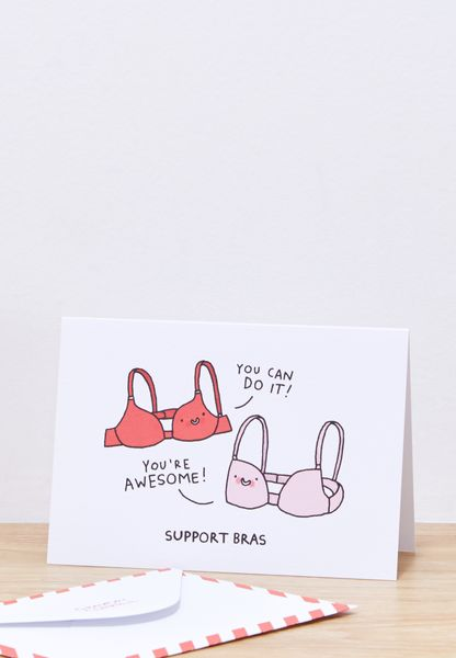 Support Bras Greeting Card