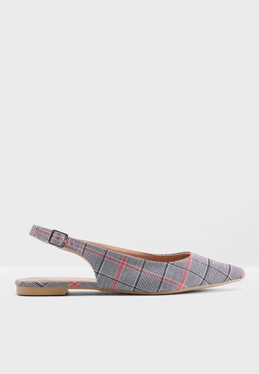 حذاء باليرينا بطبعات