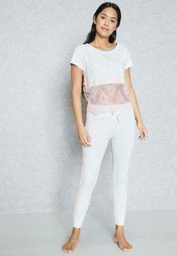 Lace Detail Pyjama Set