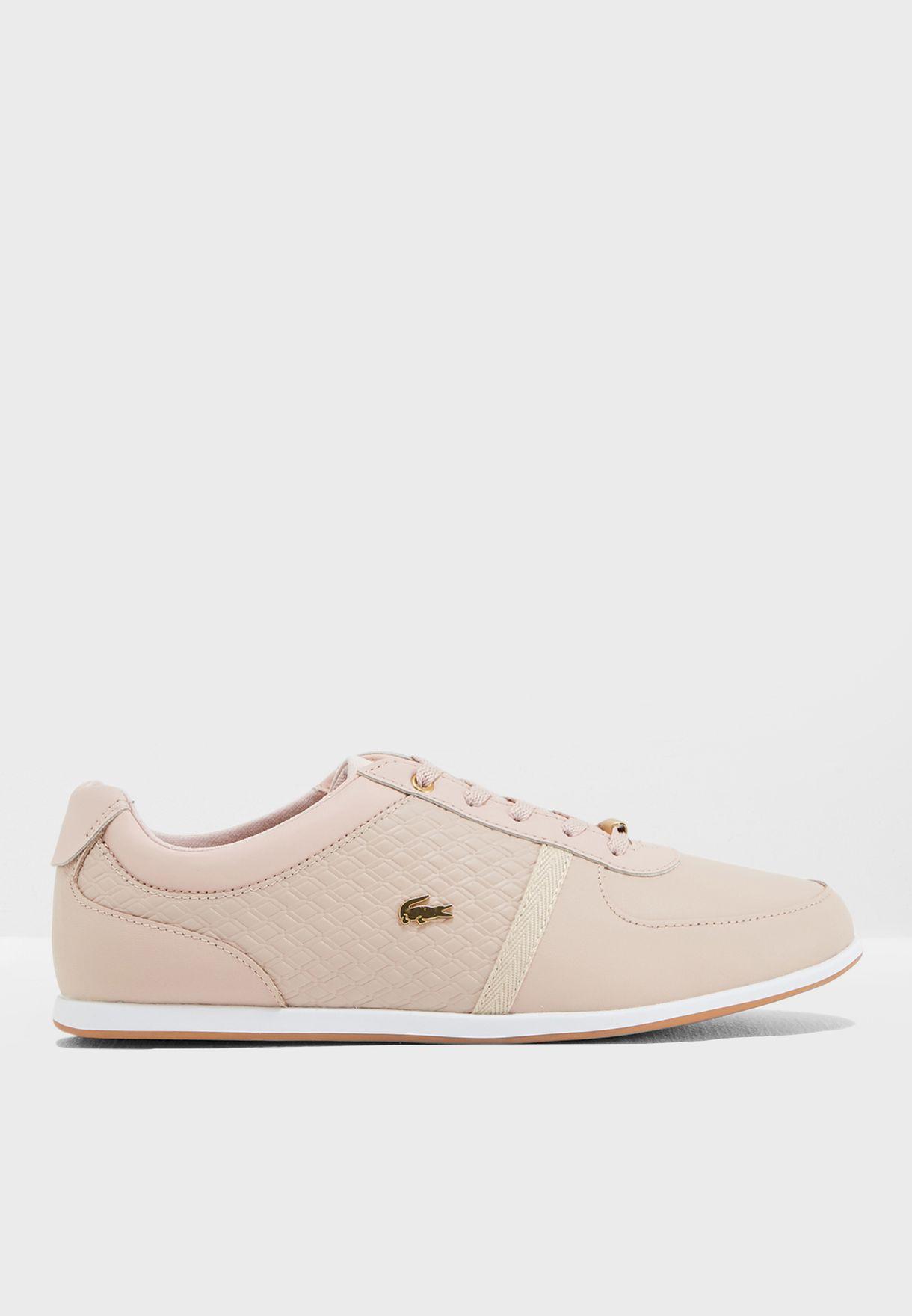 46851957c8d613 Shop Lacoste pink Rey Sport 318 1 Caw Sneaker 736CAW0034 for Women ...