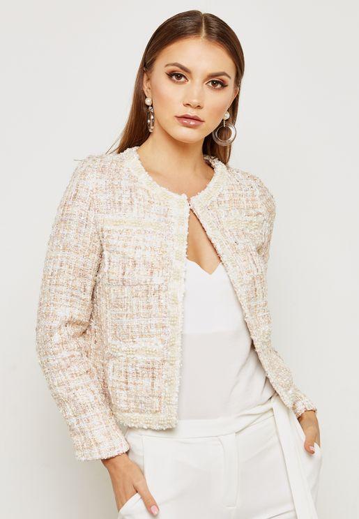 Textured Pocket Detail Jacket