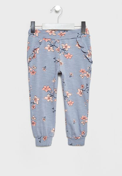 Infant Floral Print Sweatpants