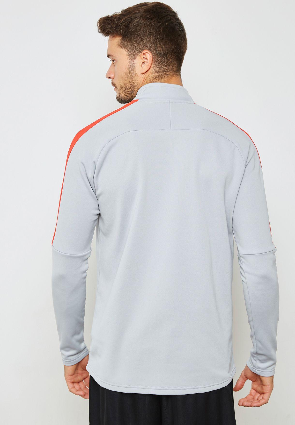 9e6ed8f5 Shop Nike grey Dri-FIT Academy Drill Sweatshirt 839344-012 for Men ...