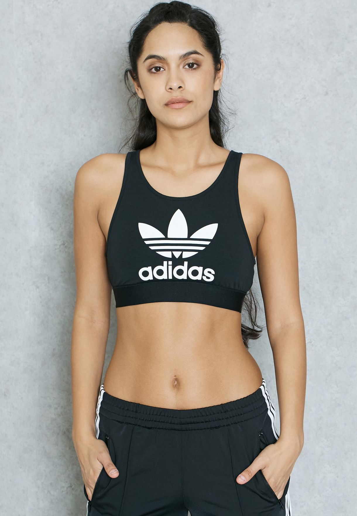 adidas originals trefoil bra top
