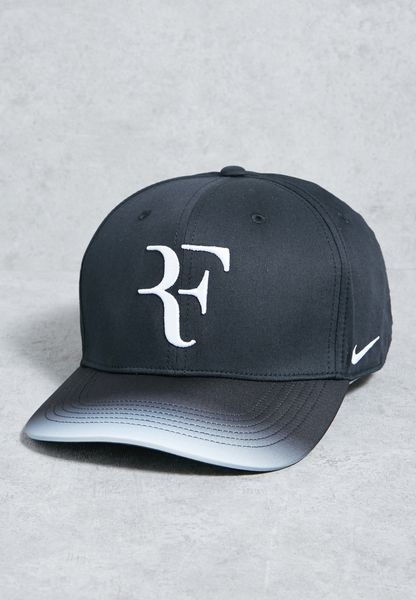 Shop Nike black AeroBill Roger Federer Cap 868579-013 for Men in UAE -  NI727AC03ASM