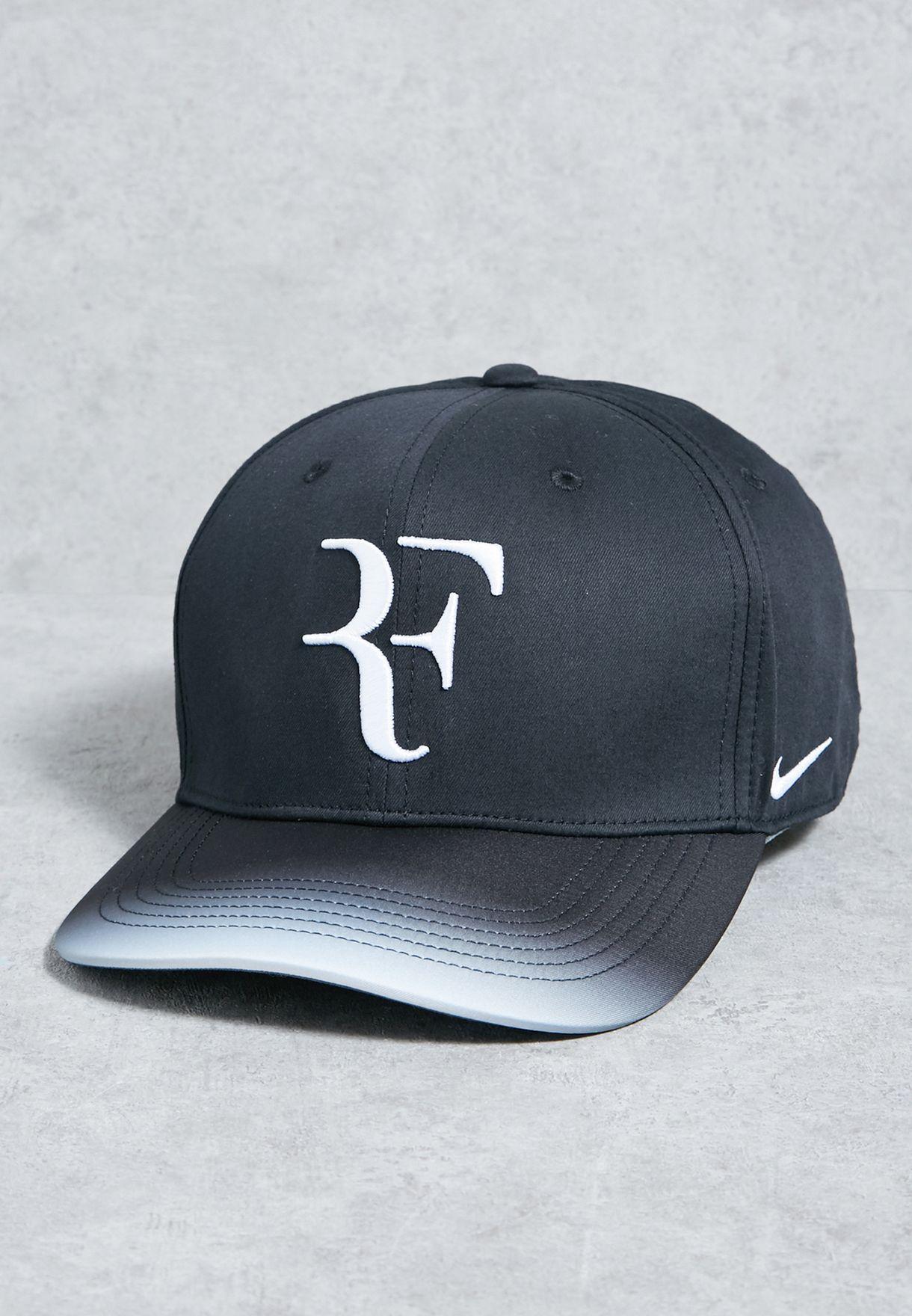 Shop Nike Black Aerobill Roger Federer Cap 868579 013 For