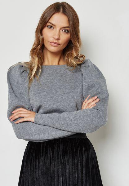 Puffed Sleeve Sweater