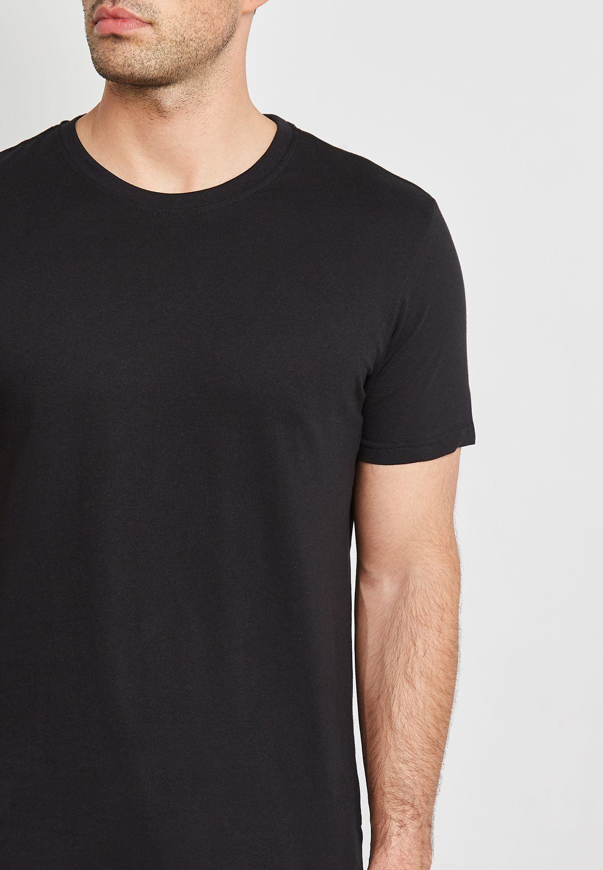 2 Pack Basic Crew Neck T-Shirts