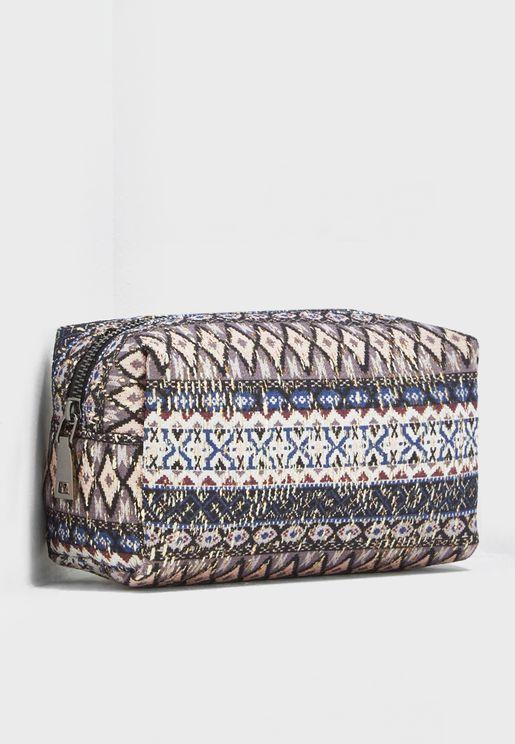 Tribal Print Cosmetic Bag