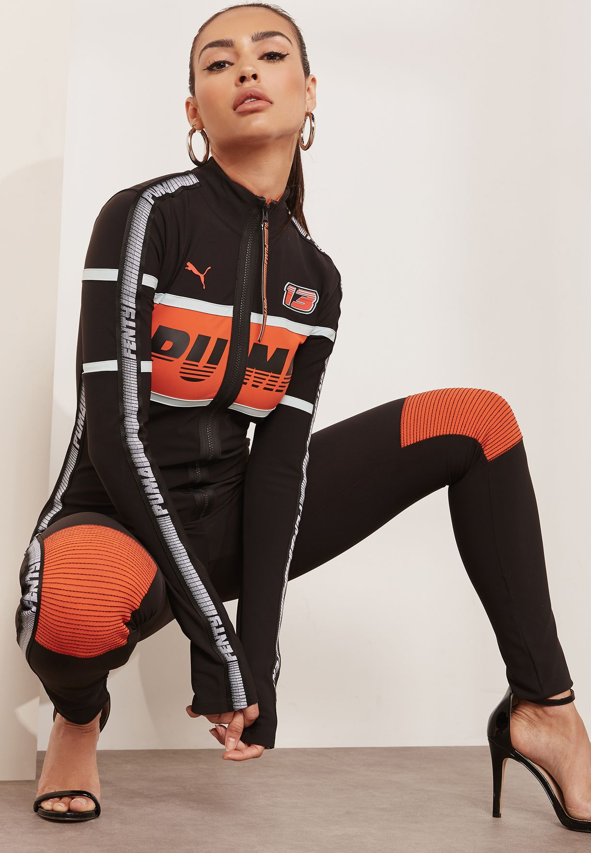52ee4d052aa Shop PUMA x Fenty multicolor Fitted Racing Suit 57733102 for Women ...