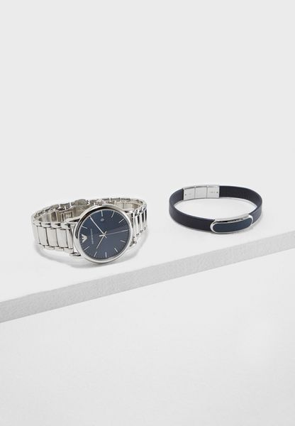 Classic Watch And Bracelet Set