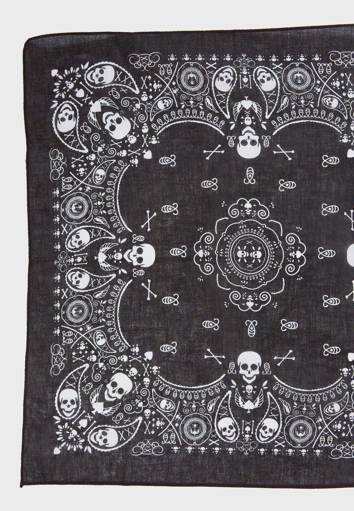Skull Print Bandana