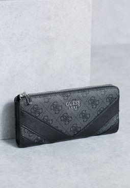 Slim Slater Zip Wallet