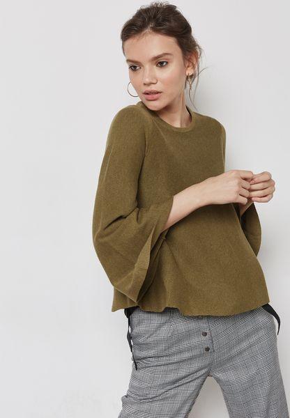 Flared Sleeve Sweater
