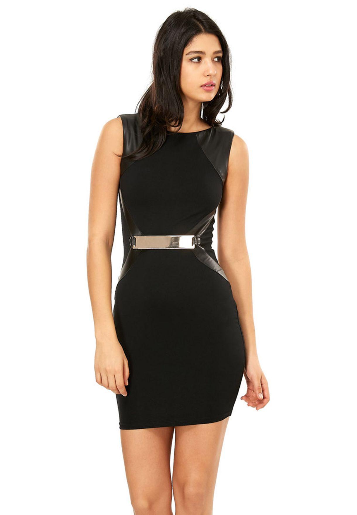 c8f43f1f4249a تسوق فستان بحزام على الخصر ماركة اكس باريس لون أسود في قطر ...