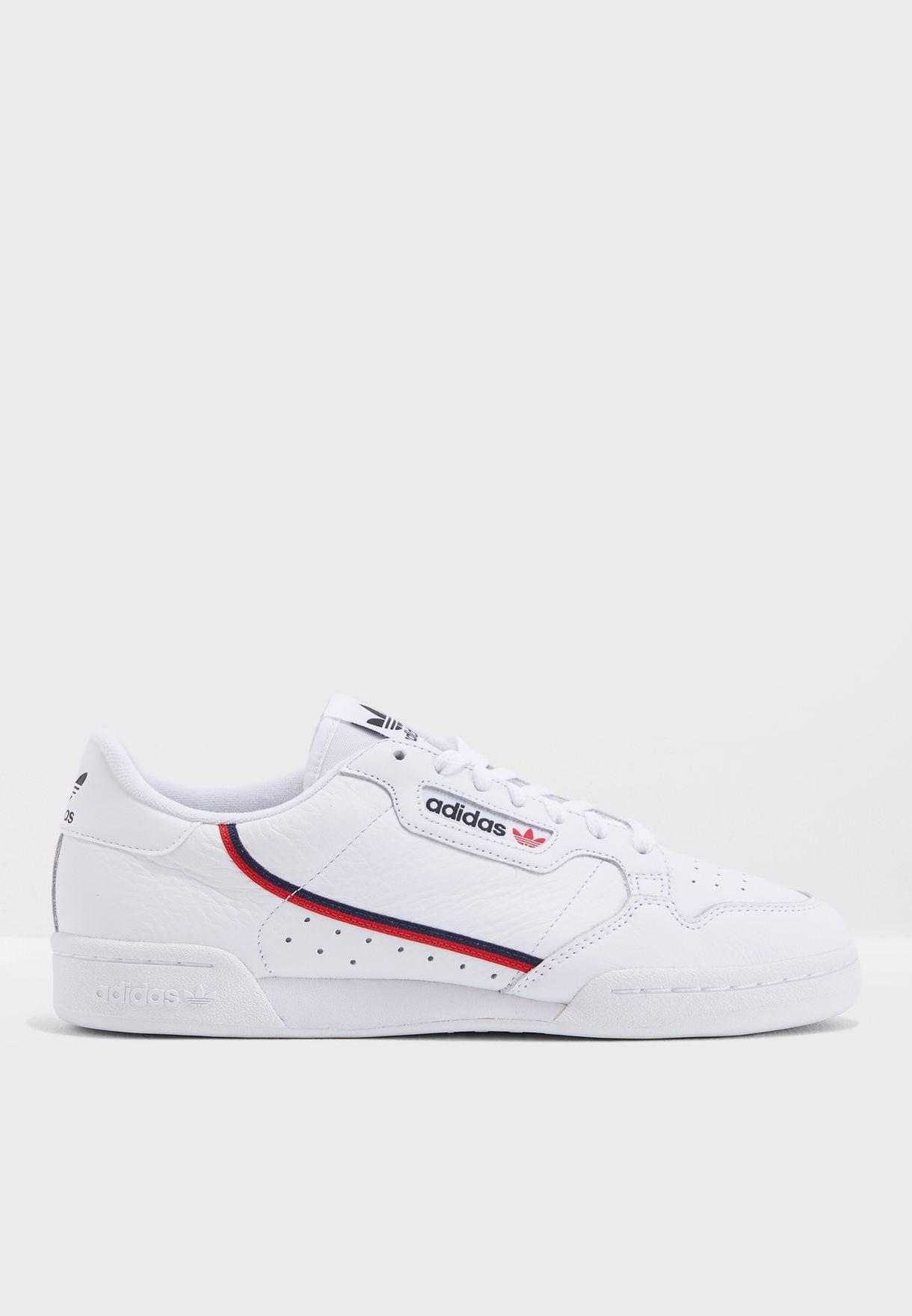 sale retailer 5b85f 7169f Shop adidas Originals white Continental 80 B41674 for Men in