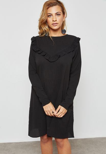 Ruffle Paneled Dress