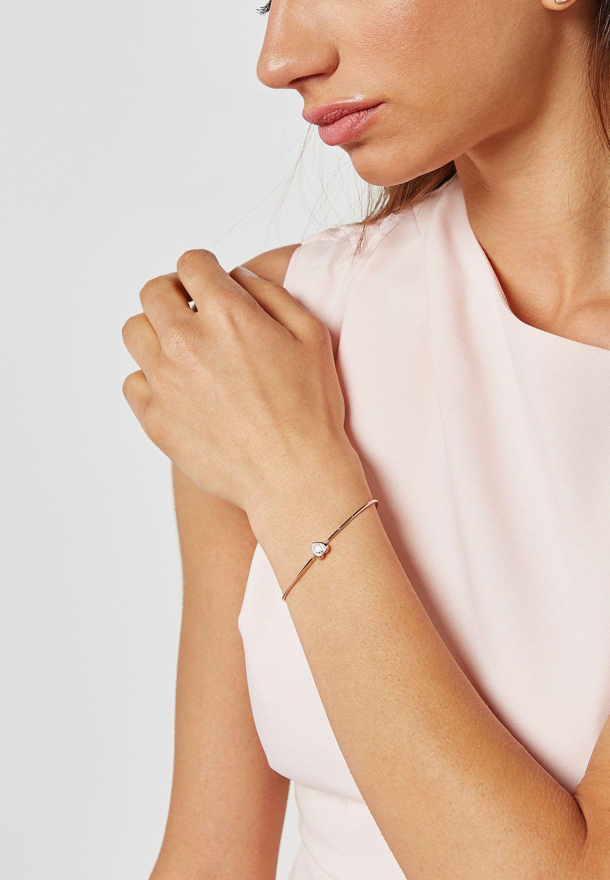 Hasina Crystal Heart Bracelet
