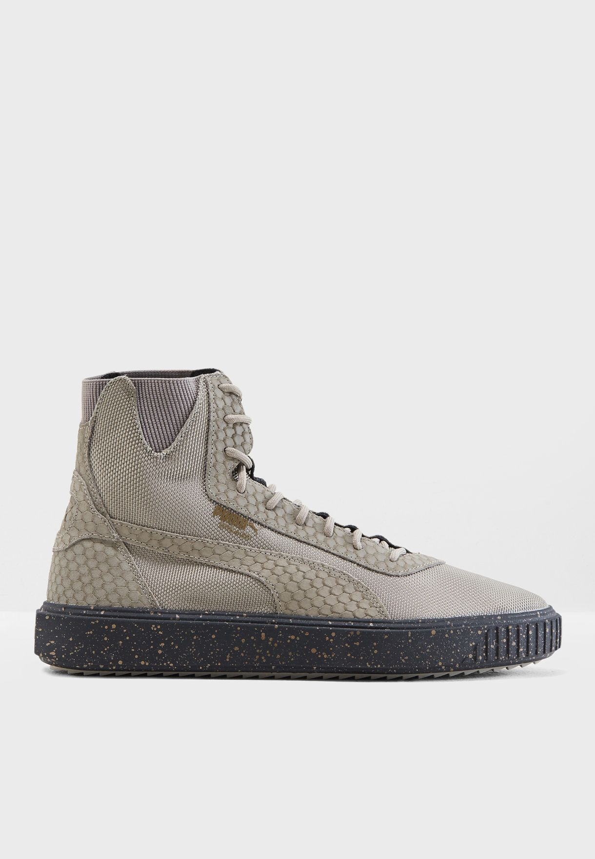 13fae2501cc Shop PUMA grey Breaker Hi Blocked 36698901 for Men in Globally ...