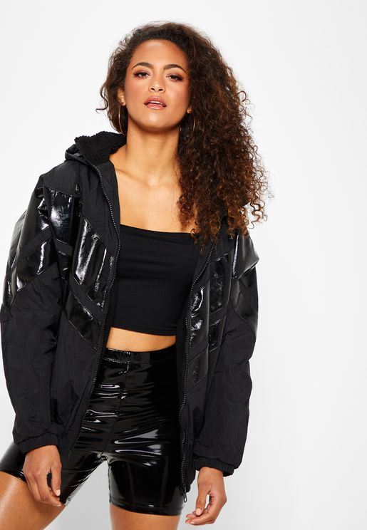 Patent Windbreaker Jacket