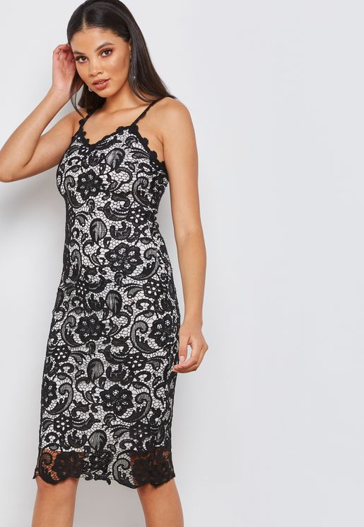 Contrast Inner Lace Dress