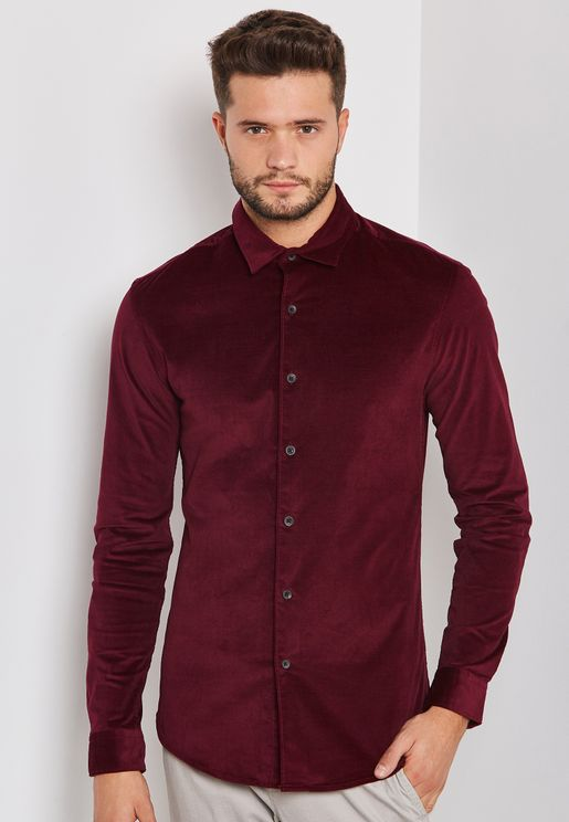 Corduroy Muscle Fit Shirt