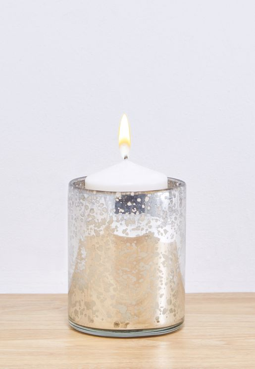 Large Hand Blown Candle Holder