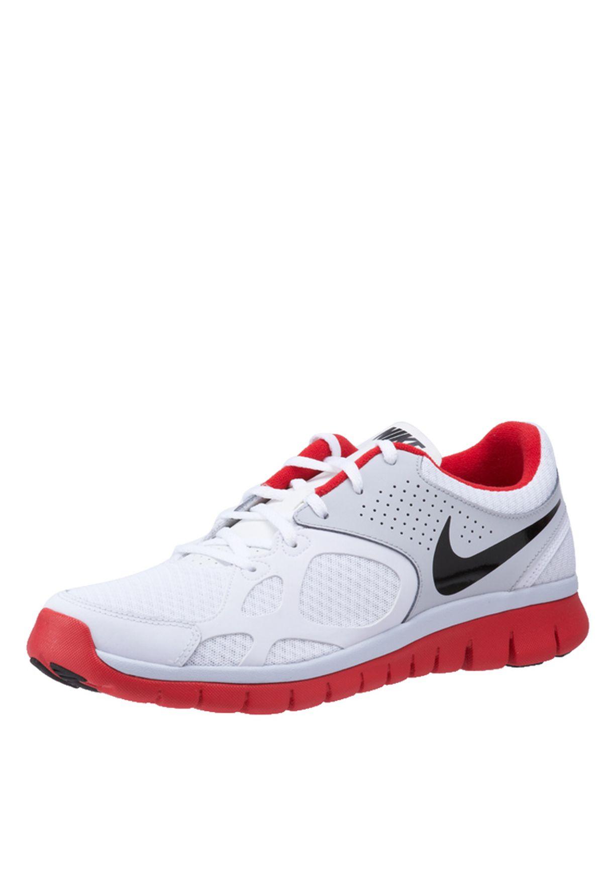 17882848f22f Shop Nike white Flex Rn Trainers 512019-100 for Men in UAE ...