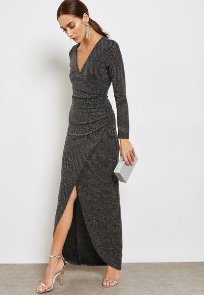 Front Wrap Maxi Dress
