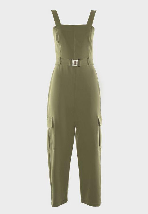 Side Pocket Detail Jumpsuit