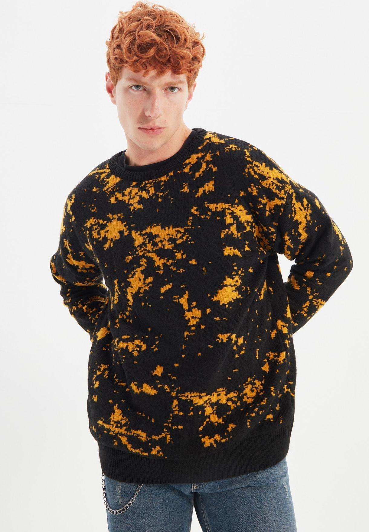 Splash Effect Knitted Sweater