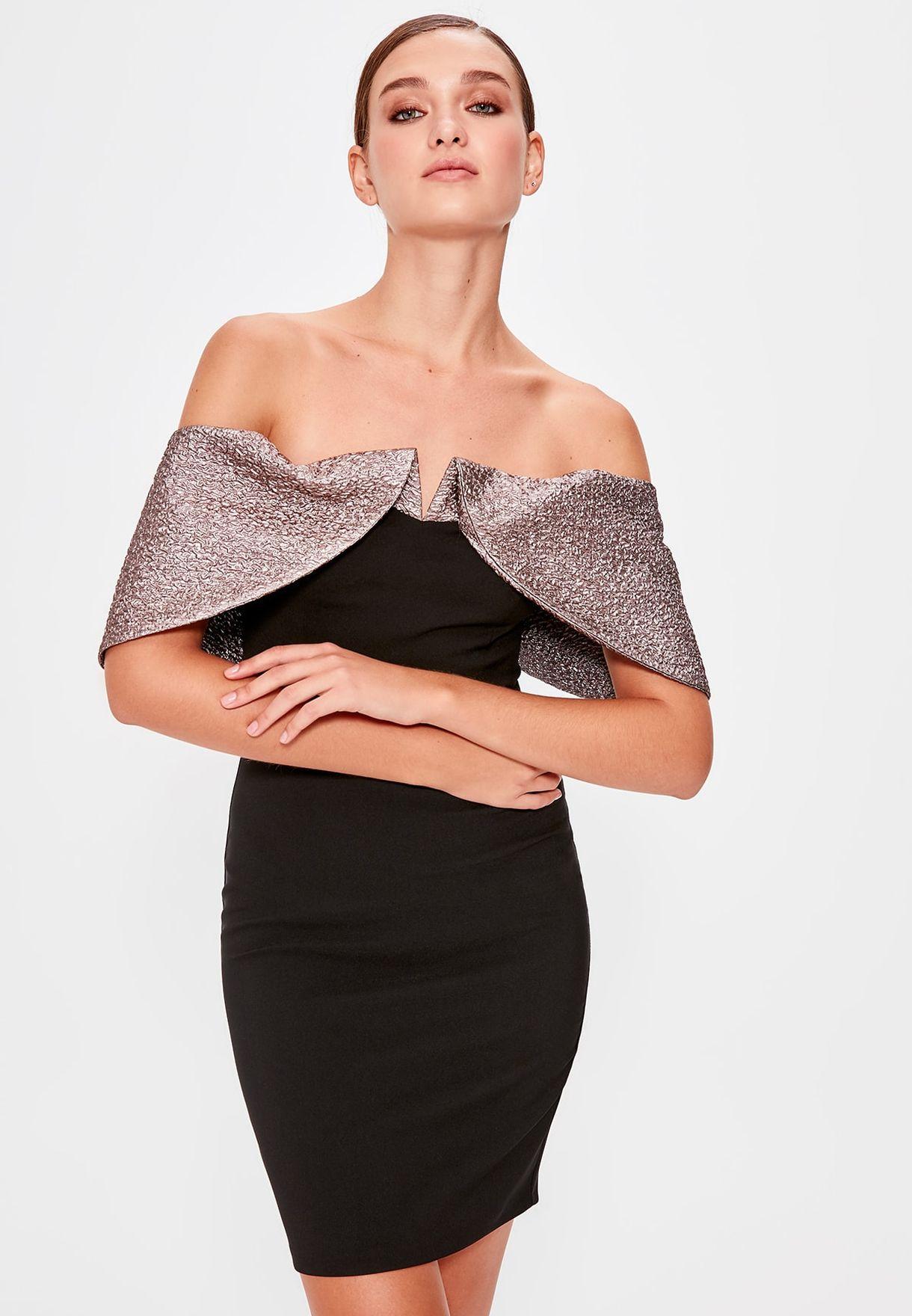 فستان باردو مزين