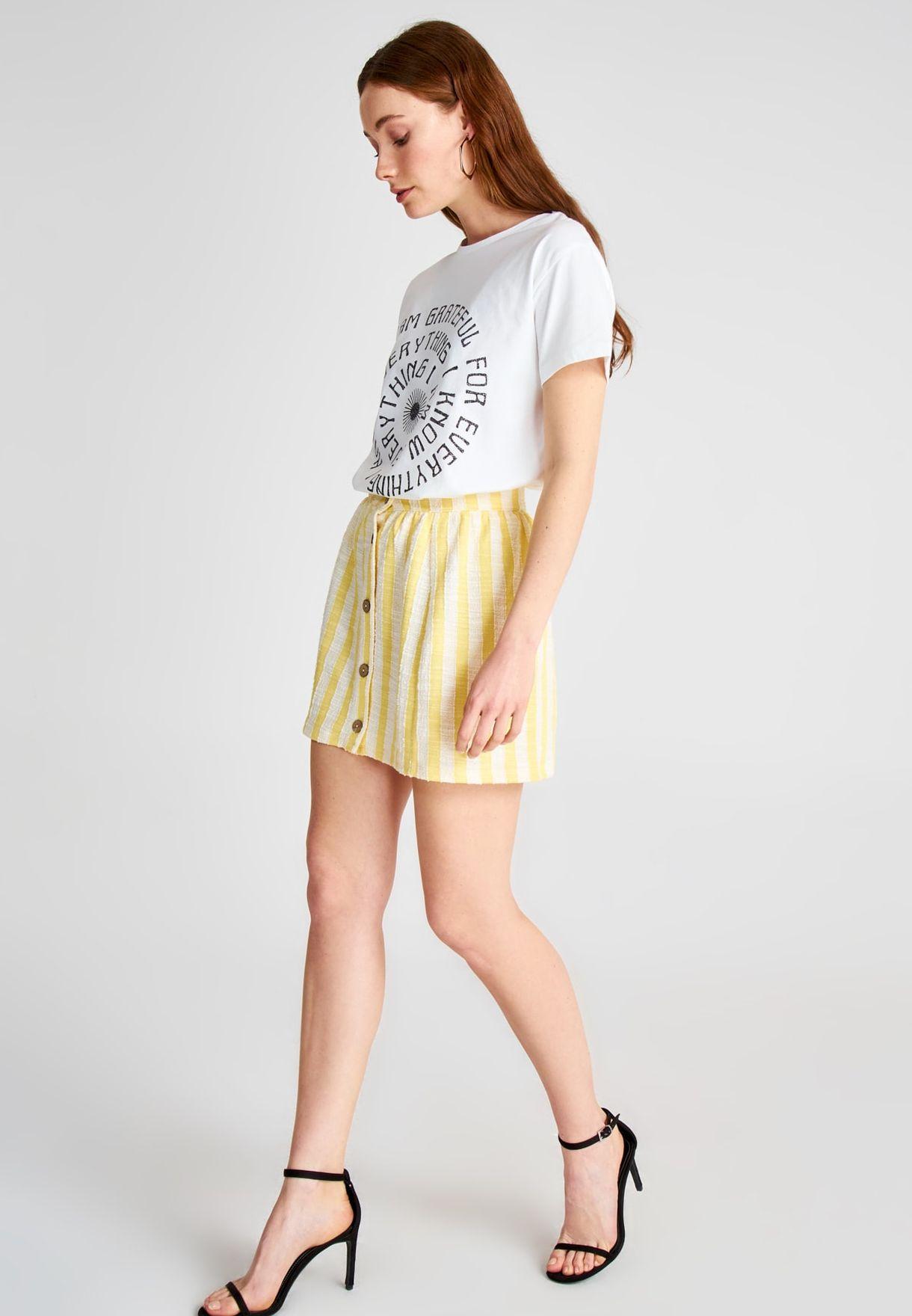 Buy Trendyol Stripes Striped Button Down Skirt For Women, Uae 27680atqmkdp