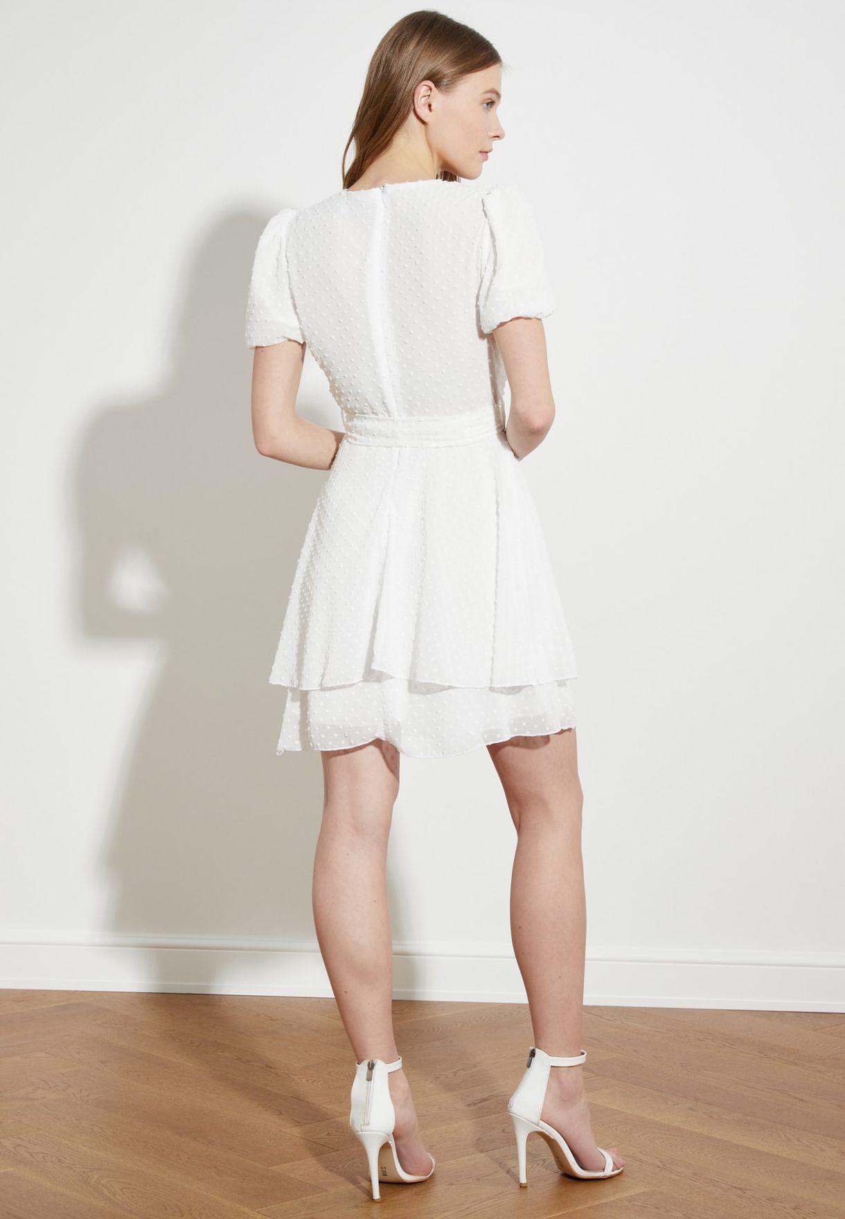 Layered Wrap Plunge Dress