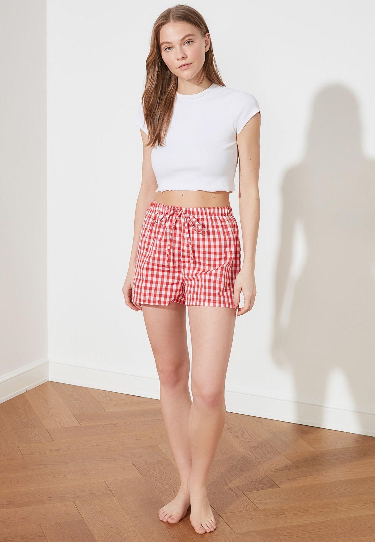 2 Pack Plaid Shorts