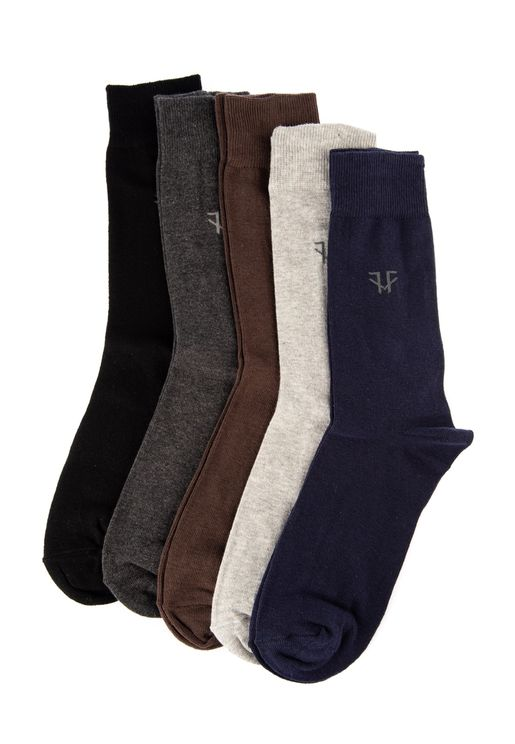 5 Pack Assorted Crew Socks