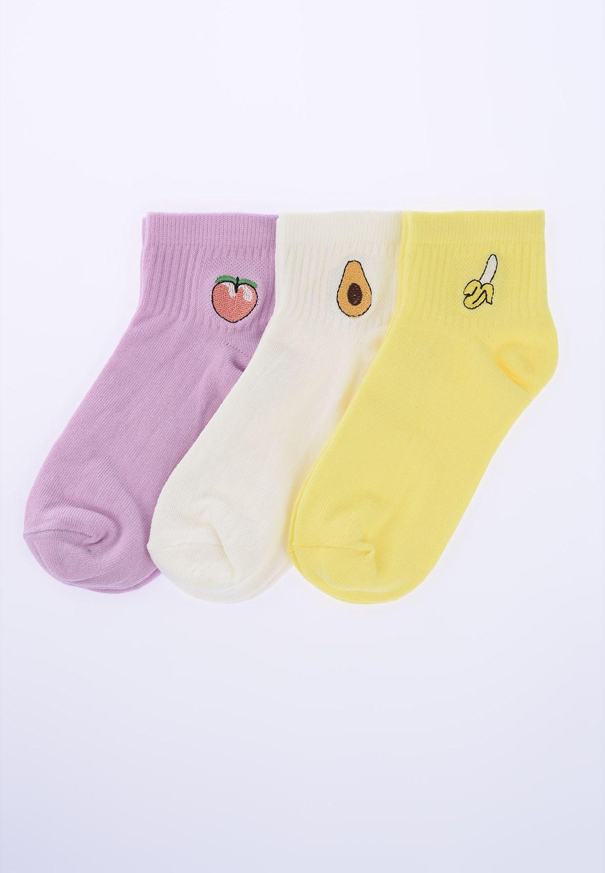 Embroidered Ankle Socks
