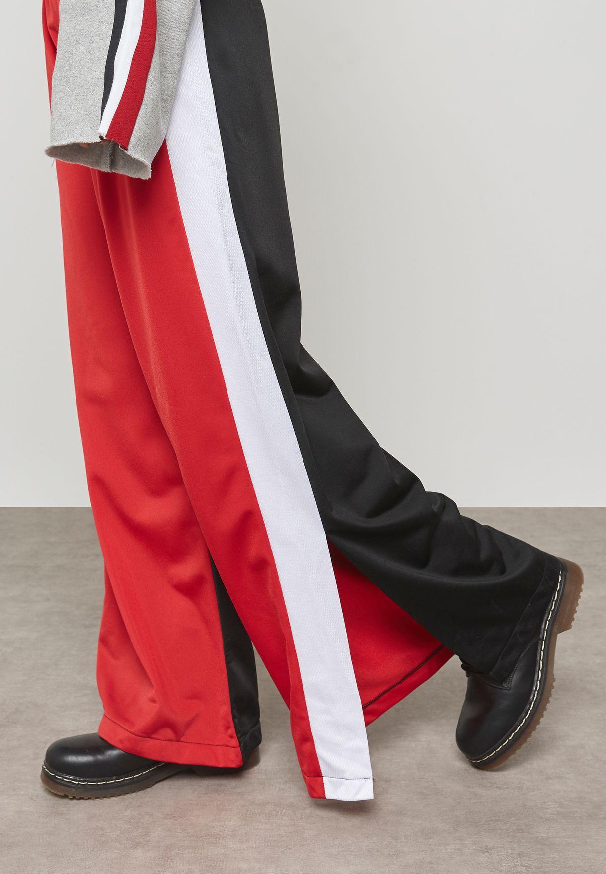 Striped Wise Leg Sweatpants