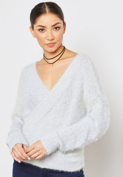 Flecked Wrapped Sweater