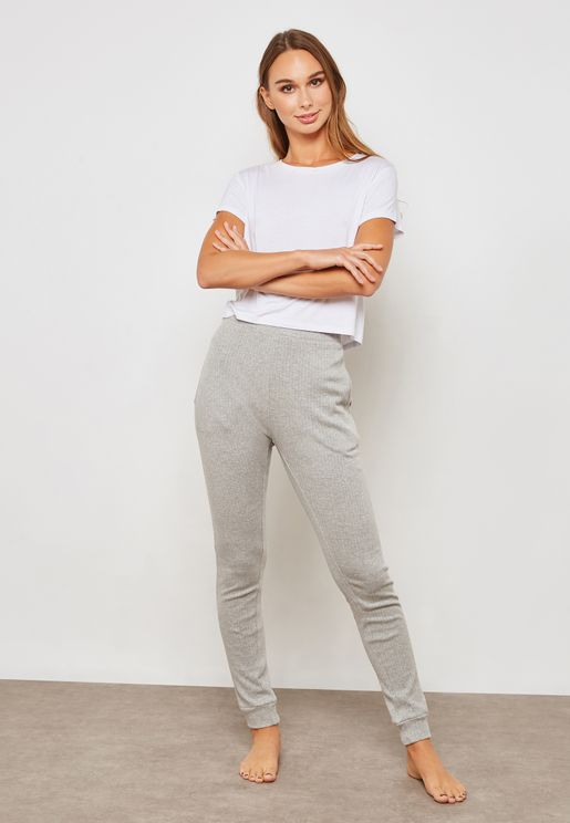 Ribbed Sleep Leggings